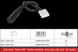 Desktop naponski kabel za LED trake